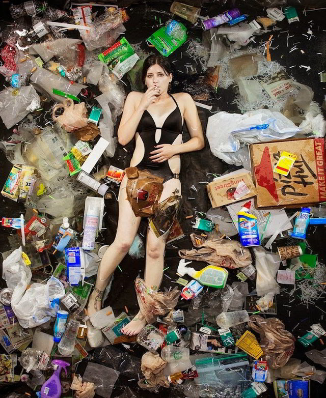 Photos-of-People-Posing-With-a-Week_s-Worth-of-Their-Own-Trash-02