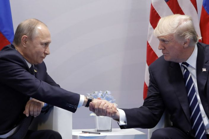 Presidents of Russia and United States meet at G20 summit in Hamburg, Germany