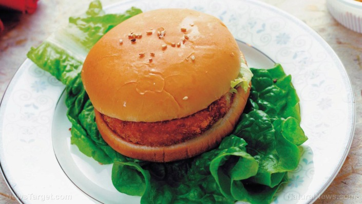 Chicken-Patty-Burger-Bun-Lettuce