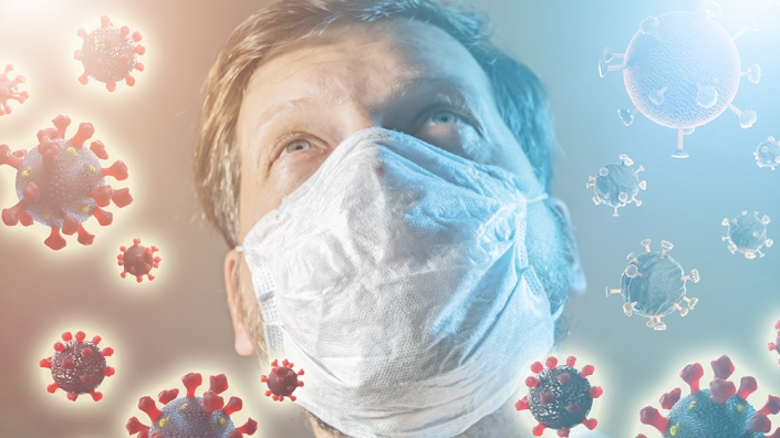 Coronavirus-Man-Medical-Mask-Virus-Infection